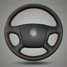 BANNIS Black Artificial Leather DIY Hand-stitched Steering Wheel Cover for Old Skoda Octavia Skoda Fabia