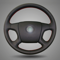 Black Artificial Leather DIY Hand Stitched Steering Wheel Cover For Old Skoda Octavia Skoda Fabia