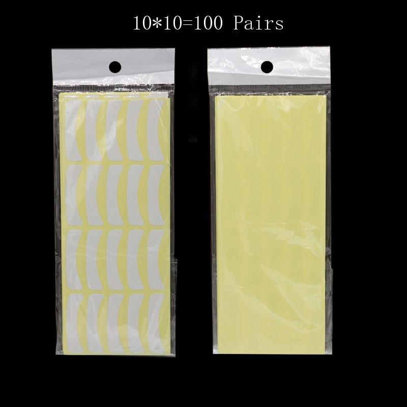 100 pares de Manchas Cílios Sob As Almofadas do Olho Lash Extensão Dos Cílios de Papel Por Atacado Papel Patches Eye Dicas Sticker Wraps