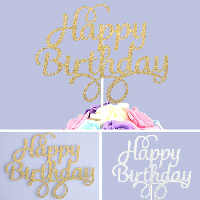1pc Special Cupcake Cake Toppers Personalized Fonts Happy Birthday Cake  Flags Baking Decorations For Family Kids Birthday Party