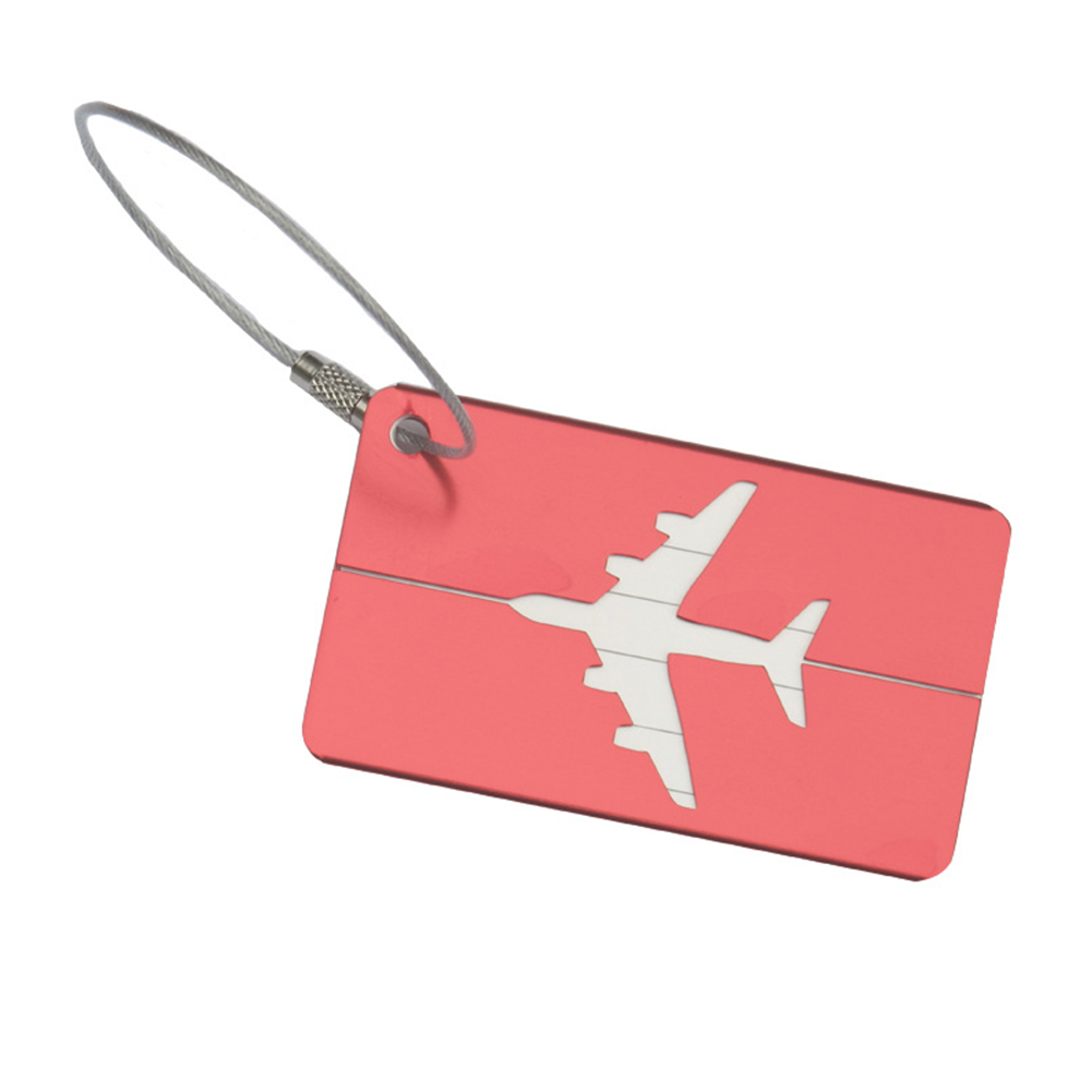 1Pcs Aluminum Metal Travel Luggage Label Suitcase Name ID Address Tags Luggage Tags  New  Travel Accessories Drop Ship