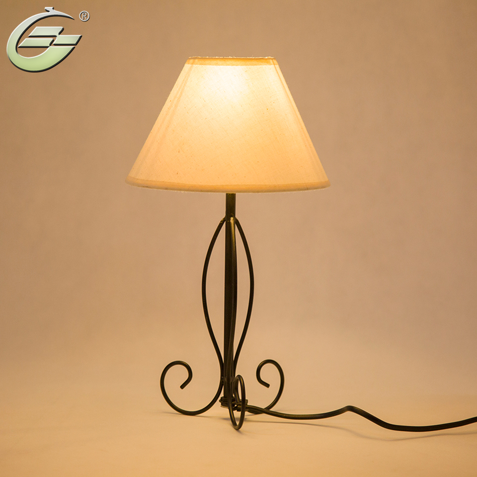 Simple table lamp - Modern Table Lamp Black Iron Base Simple White Linen Lampshade Decoration For Living Room Bedroom Study