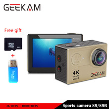 GEEKAM S9 Sport Camera WIFI 1080P HD Ultra 4K 170D 2.0 Inch Go Diving Action Helmet Cam DV Pro With Large Bag Case Accessories