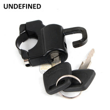 """Motorbike Accessories 7/8"""" Black Clamps Onto Handlebar Tube Mount Helmet Anti-theft Security Lock For BMW Honda UNDEFINED"""