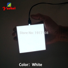 White10X10CM el sheet 6 Color choice panel backlight for car,house,party,dispaly,holiday,festival carnival decoration