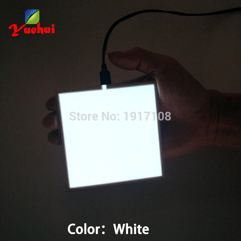 NEW 10X10CM Size EL Sheet 6 Color choice EL panel EL backlight for car,house,dispaly,holiday,festival Glow party Supplies