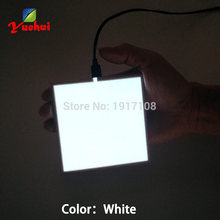 NEW 10X10CM Size EL Sheet 6 Color choice EL panel EL backlight for car,house,dispaly,holiday,festival Glow party Supplies(China)