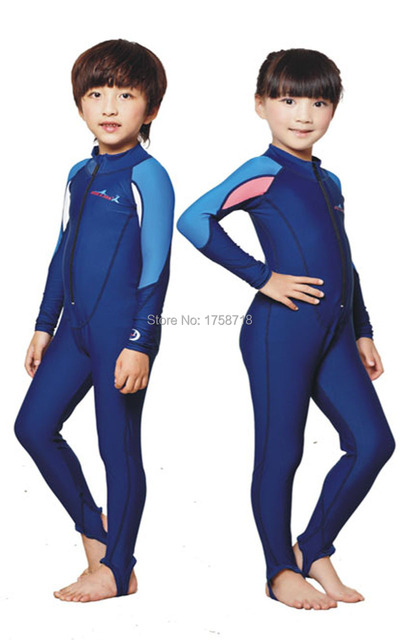 f3b9b34ce Free Shipping swimming dress Kids boys girls snorkeling clothing children's  sun protection clothing child diving suit wetsuits
