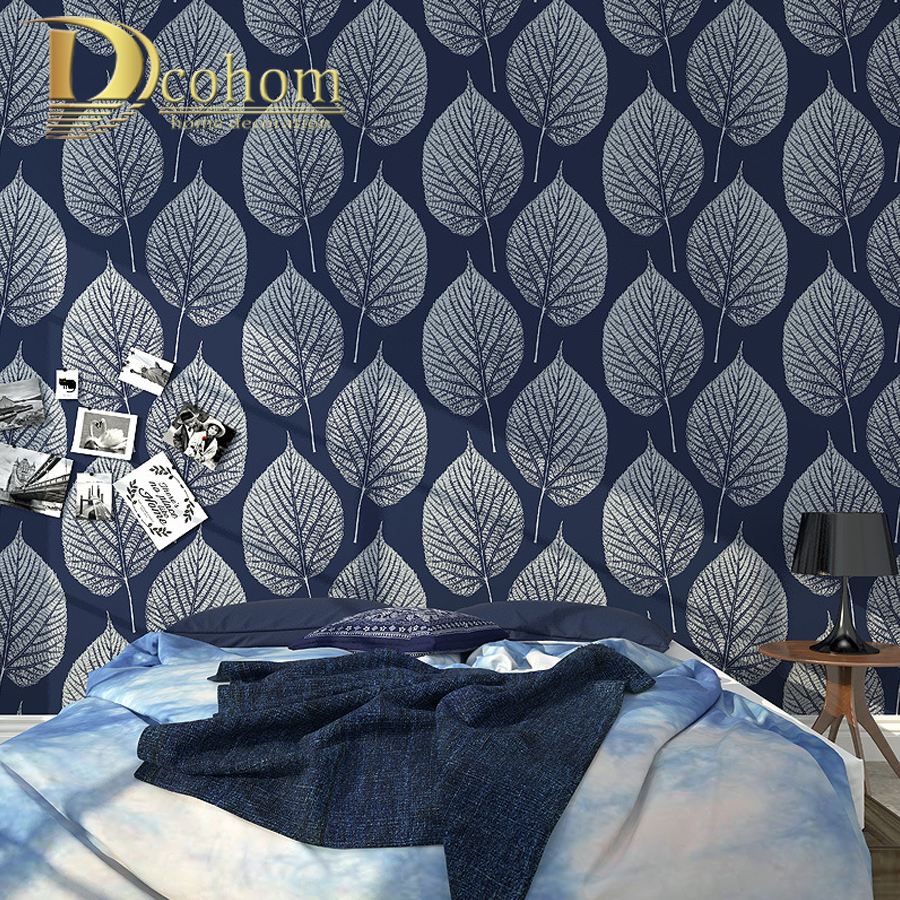 modern wallpaper for walls black white leaves pattern  bedroom living room sofa tv home decor luxury European wall paper rolls simple striped lines modern wall papers home decor wallpaper for living room bedroom tv sofa background wallpaper for walls 3 d