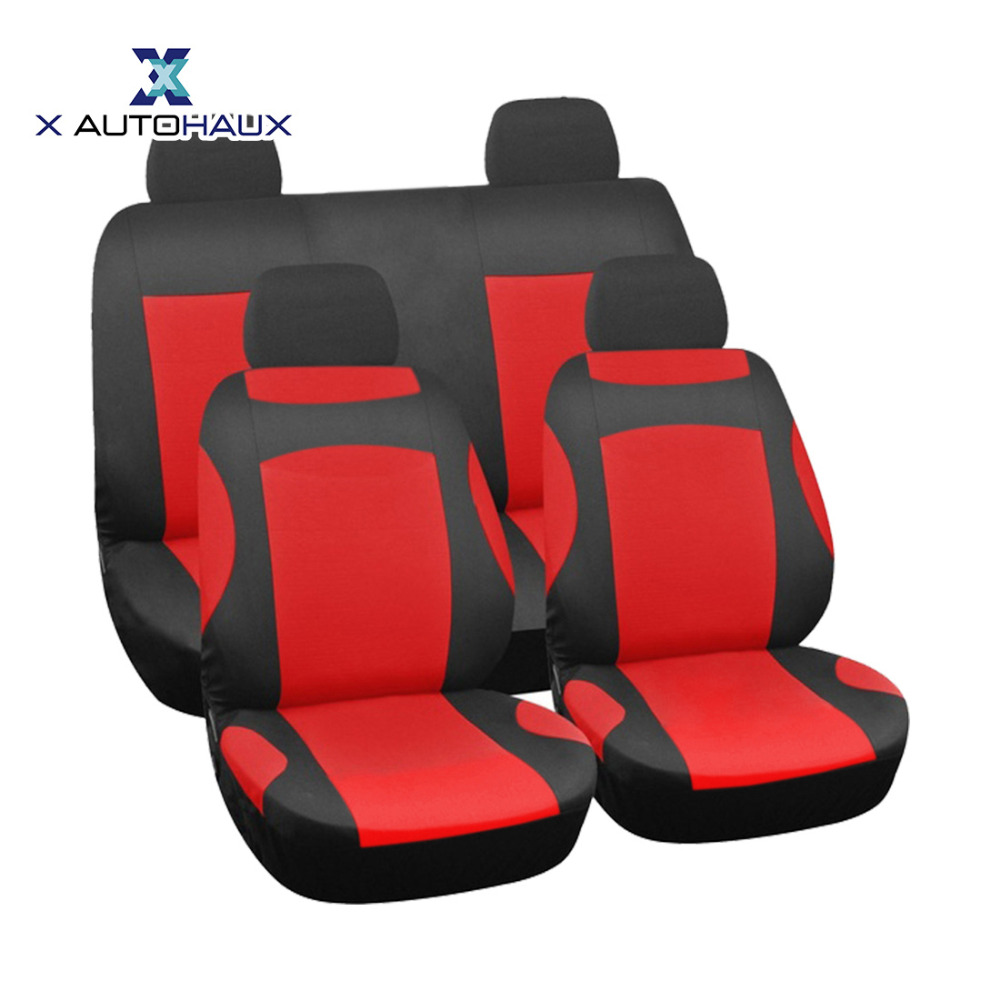 X Autohaux New Arrival 8PCS/Set muti-color Front Rear Universal Car Seat Covers Seat Covers Fit For Four Seasons Car ACCESSORIES