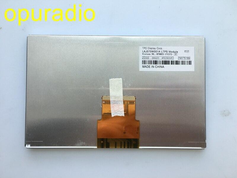 Free post Original new TPO 7Inch LCD display LAJ070W001A Screen for car GPS navigation LCD monitors