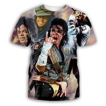 PLstar Cosmos 2019 Fashion Men/Women T-shirt King of Rock and Roll Michael Jackson 3d print t shirt Boy singer star