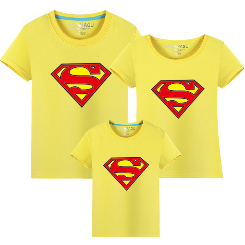 5c62b58530f46 Father Son Baby Shirts Daddy Mother and Daughter Clothes Brother Big Sister  Little Sister Matching Outfits Superman Shirts