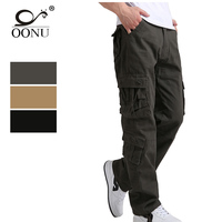 OONU 30-44 High Quality Men's Cargo joggers Pants Casual Military for Men Overalls tactical Trousers Men Camouflage fashion J8