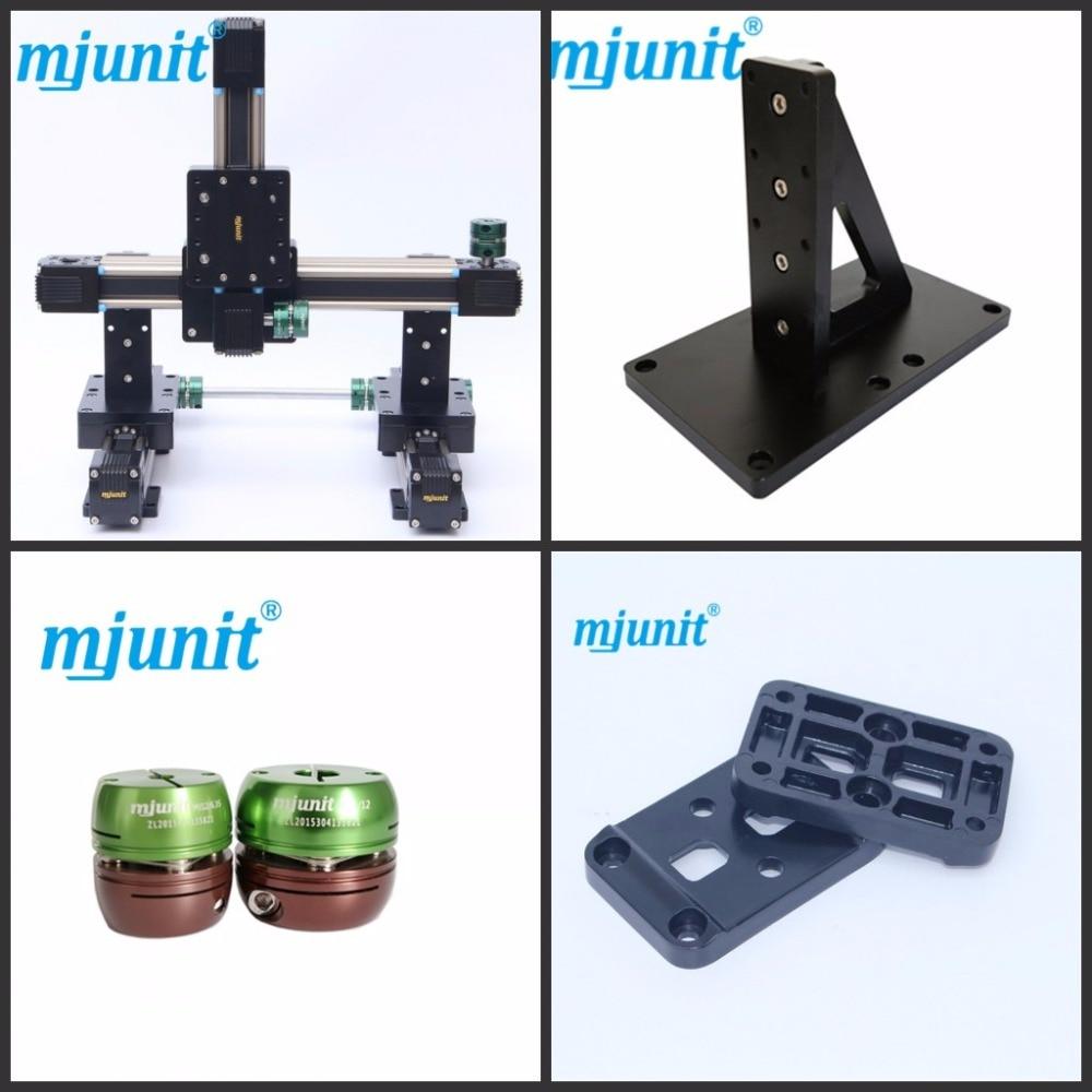 MJUNIT 500X500X500mm stroke nema34 stepper motor drive three axis Linear Motion Systems xyz stage for printer