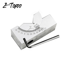 High Precision V Block 0 to 90 Degree Adjustable Micro Angle Gauge with Wrench(China)