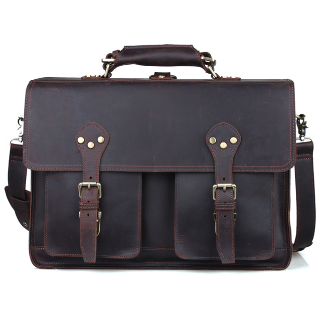 Tiding Men 16 Laptop Bag Leather Handbags Designers Brand High Quality Large Italian Carry On