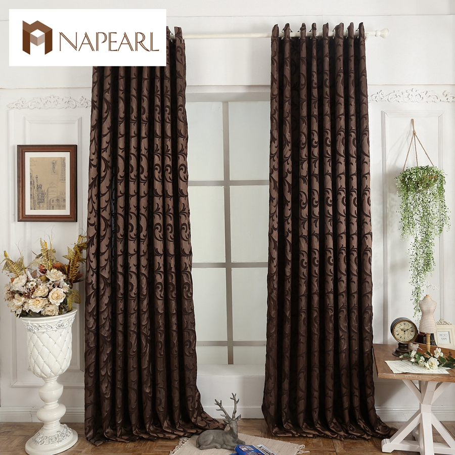 Jacquard curtains modern kitchen curtains design