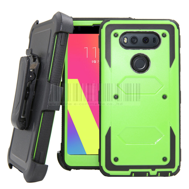 sports shoes d9689 3a311 US $4.98 20% OFF|Heavy Duty Armor Case For LG V20 With Belt Clip Holster  360 Degree Back Kickstand Shockproof Hybrid Hard Case Cover For LG V20-in  ...