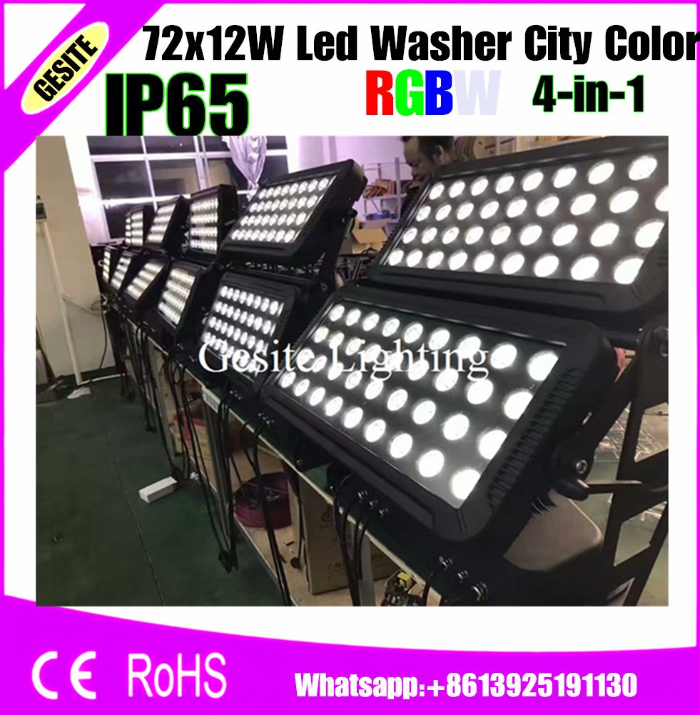 City Color Waterproof 4 In 1 Flood Dj Light Projector Light Attractive Appearance Useful 72x18w Rgbw Outdoor Wall Washer Led Stage Lighting Effect