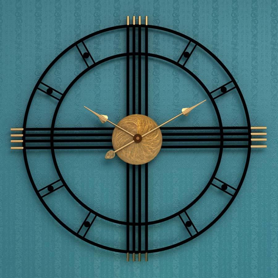 Large Metal Wall Clock Modern Design For Living Room European Vintage Retro Roman Clocks Iron Art Wall Watch Home Decor 50CM