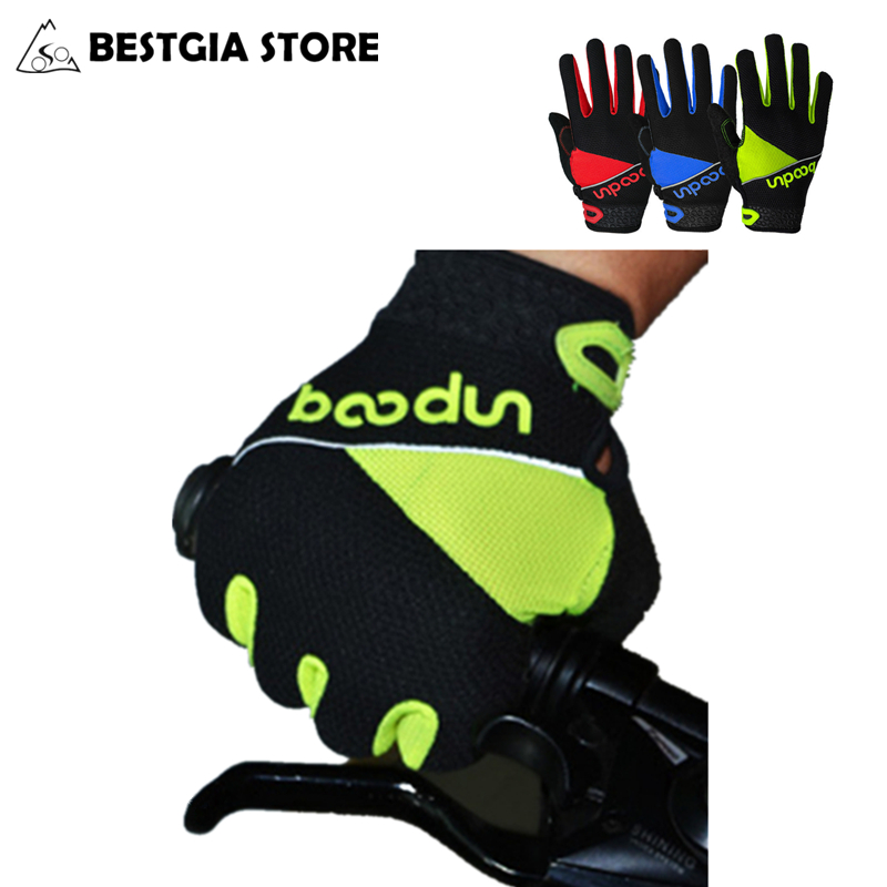 BOODUN Outdoor Full Finger Gel Guante Touch Screen Cycling Gloves Of Road MTB Bike Bicycle Winter Warm Breathable Antiskid Glove