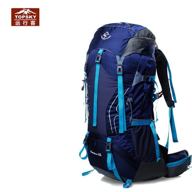 Topsky 50L 60L Camping bag professional climbing Backpack sport Men women bag External Frame backpack mochilas sports bags