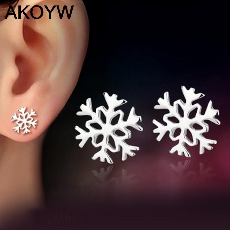 Silver plated jewelry snowflake earrings lovely lady fashion high quality jewelry manufacturers, wholesale