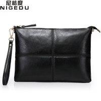 Genuine Leather Women Envelope Clutch Bag Fashion Ladies Evening Bag Women S Handbag Shoulder Bag Female