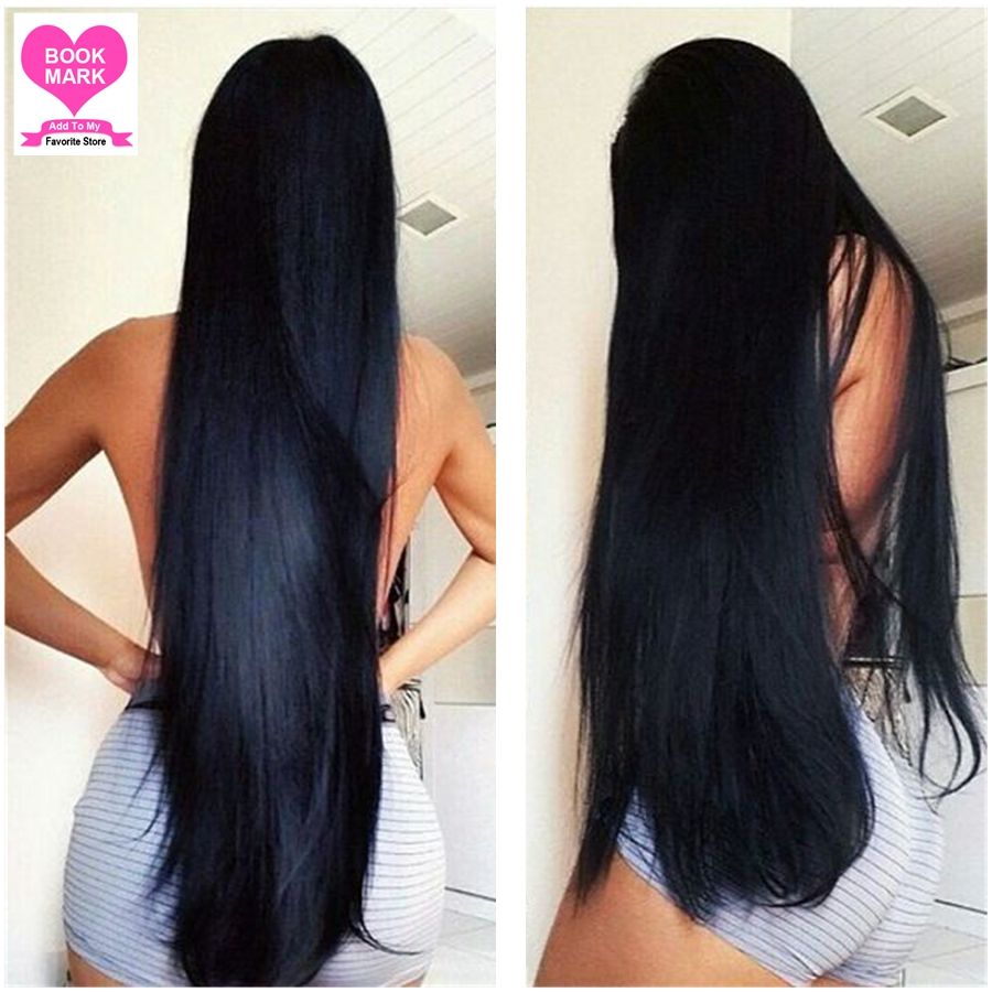 Brazilian Straight Hair Bundles with Closure 4X4 inch Free Part Closure with Hair Weave Bundles 4 Bundle Deals 8-28 inches Remy