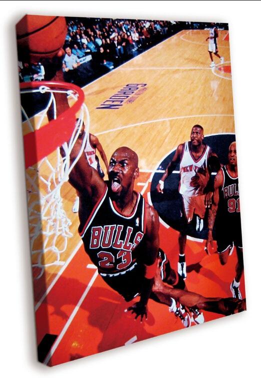 Chicago Bulls Michael Jordan Dunk Lengua de Madera Maciza Lienzo Sin ...