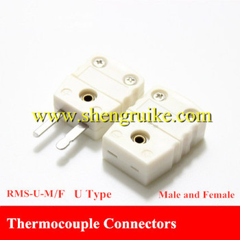 T Type thermocouple connector flat pin male and female
