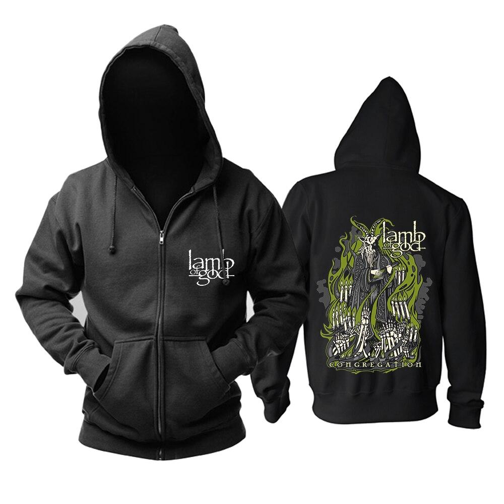 Bloodhoof L'AGNEAU DE DIEU Death Metal groovemetal Grindcore sweater à capuche cachemire Taille Asiatique