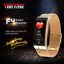 VERYFiTEK F4 Metal Smart Band Wristband Blood Pressure Heart Rate Monitor Men Women Fitness Watch Pedometer Smart Bracelet