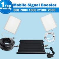 Netcom 5 Band 800/900/1800/2100/2600 Signal Repeater Antenna 3G UMTS 4G LTE 2600 2G EGSM B1/B3/B7/B8/B20 Mobile Amplifier Kit 42