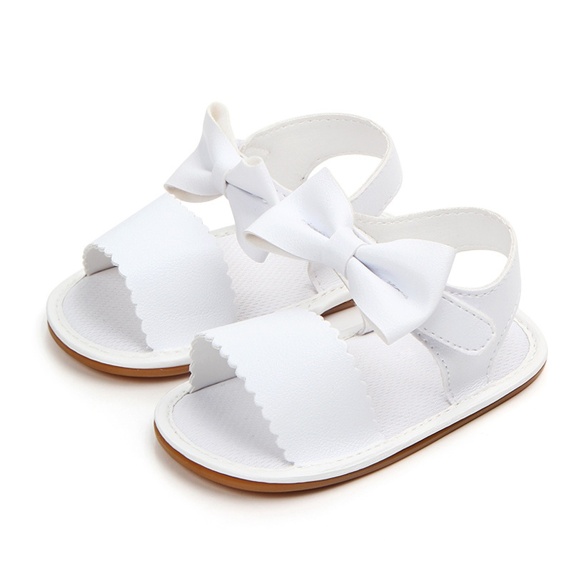 2d2e1e701754f Baby Cute Sandals Newborn Baby Girl Bow Tie Sandals Summer Baby Shoes  Casual Fashion Sandals Girls PU Baby Sandals-in Sandals   Clogs from Mother    Kids on ...