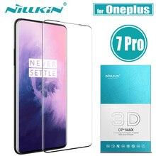 Oneplus 7 t/7 pro 강화 유리 스크린 보호기 nillkin 3d full coverage 안전 보호 유리 1 개 + 7 t 7 pro 필름