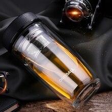 Hoch- Klasse doppelschicht tragbare Geschäftsideen tumbler glas filter büro tasse flaschen tassen doppel-glas tee Wasser kaffeetasse