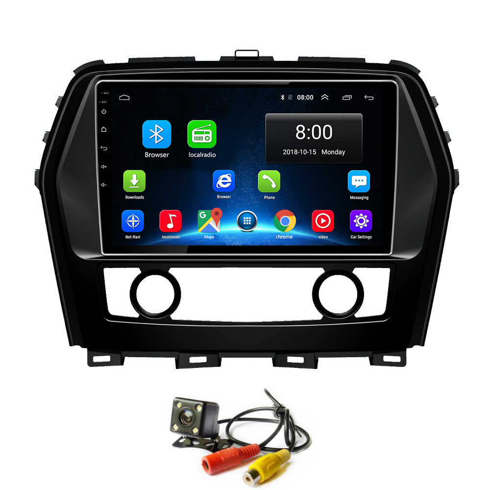 Android 8.1 GPS Mobil Radio Player untuk Nissan Cima Infiniti Q45 Mobil Audio Video Multimedia Touch Screen Head Unit Wifi bluetooth