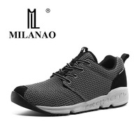 2016 MILANAO Running Shoes Breathable Unisex Outdoor Sports Cross Country Run Trendy Walking Jogging Sneakers EUR
