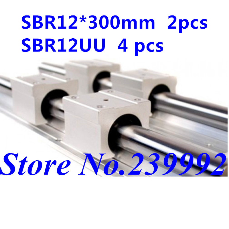Image 2 - SBR12 12mm linear rail length 300mm 400mm 500mm 600mm 700mm 800mm linear guide with SBR12UU linear block cnc part-in Linear Guides from Home Improvement