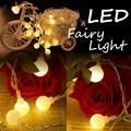 150 CM/3 m/5 m LED Cadena Luces Con Pilas Multicolores Bolas de Luz de Hadas Fiesta de Navidad de La Boda de Iluminación interior y Exterior