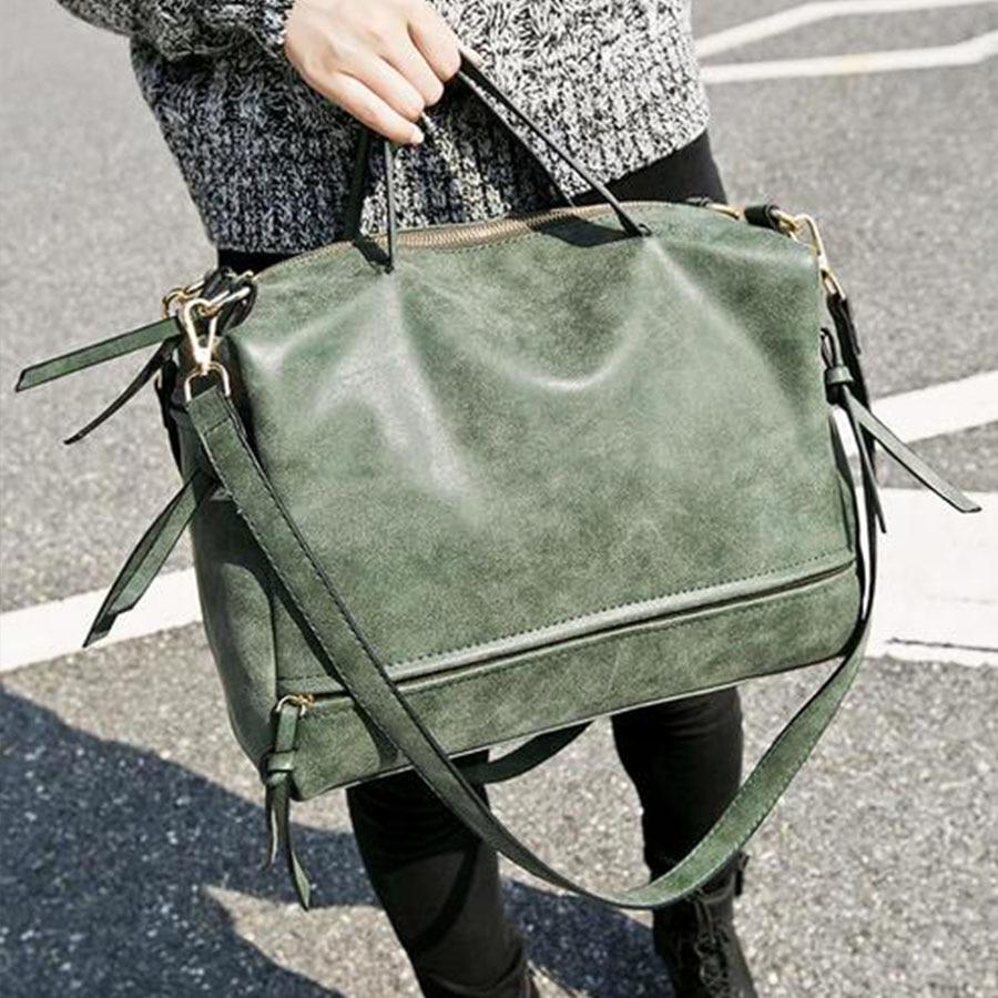 Mujeres pu bolsos de cuero femenino vintage nubuck crossbody bolsa - Bolsos - foto 5