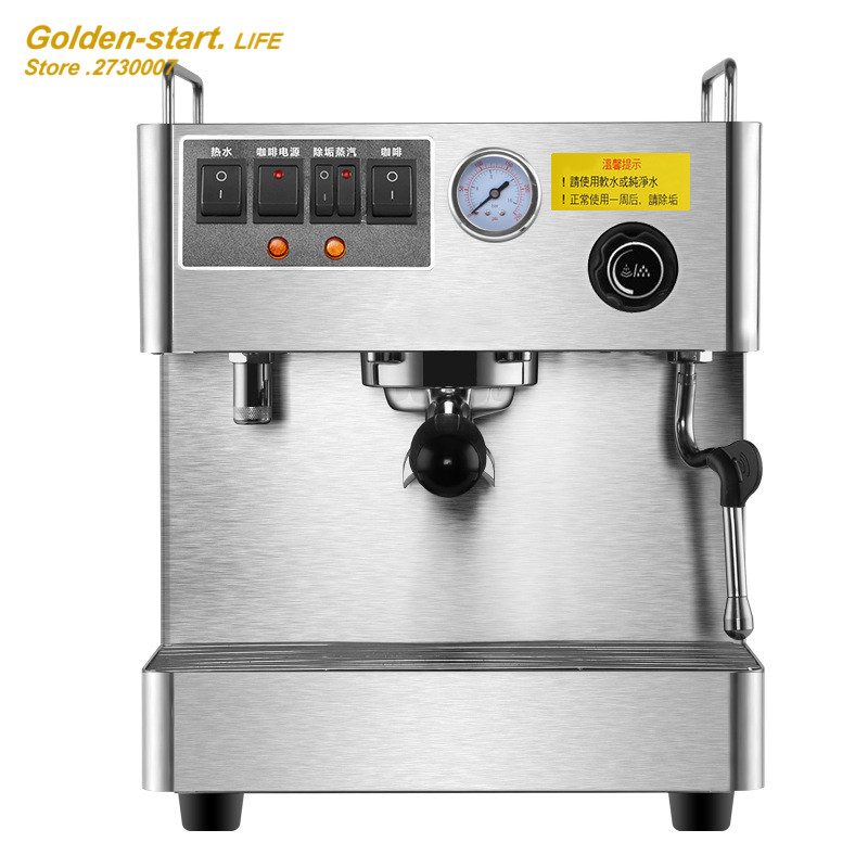 Commerical Office Espresso Coffee Machine Fully-Automatic 3000W Steam High Pressure Italian Coffee Maker Coffee Machine