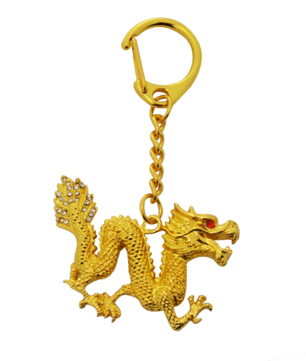 2017 Nový Feng Shui Bejeweled Dragon Keychain - Dekorace interiéru