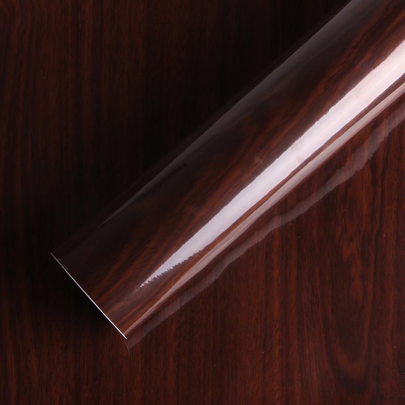 Обновление мебели SUNICE, глянцевое текстурированное дерево из ПВХ, самоклеящееся водонепроницаемое фотопокрытие, размер на заказ