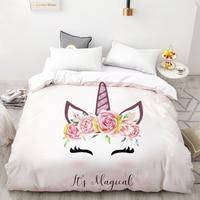 3D HD Digital Printing Custom Duvet Cover,Kids Child baby Quilt/Blanket case Queen Cartoon Bedding,Bedclothes Cute Unicorn crown