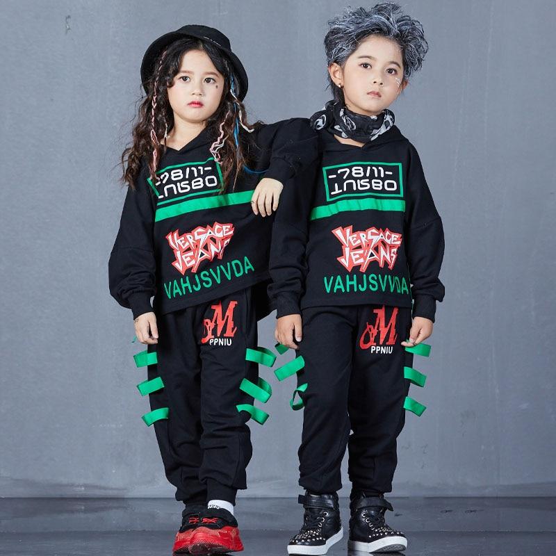 f340a96cf12e ... Children Hip Hop Clothing Sets Autumn Boys Girls Long Sleeve Sports Suit  Kids Hoodies + Pants ...