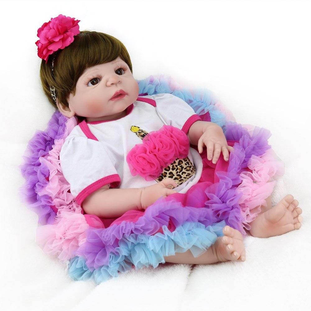 Silicone pieno bambole reborn 22 55 cm bebe ragazza reborn baby dolls creativo regalo dei bambini del giocattolo bambole reale alive bonecasSilicone pieno bambole reborn 22 55 cm bebe ragazza reborn baby dolls creativo regalo dei bambini del giocattolo bambole reale alive bonecas
