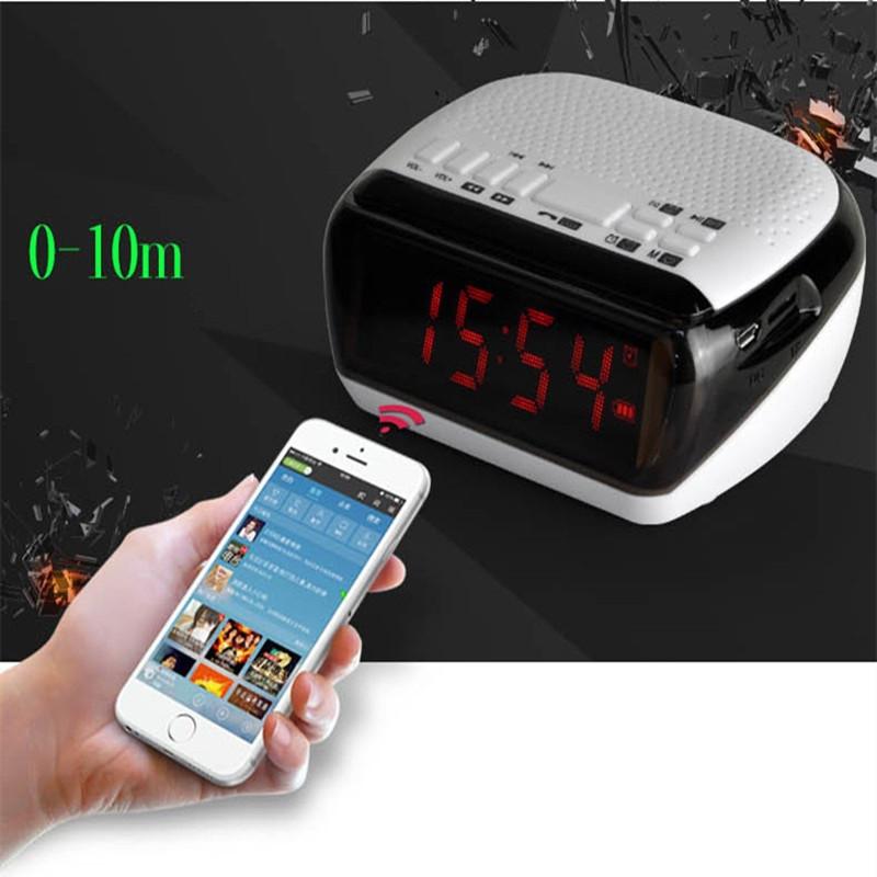 Mini Portable Dual Alarm Clock Bluetooth Stereo Speaker LCD Digital FM Radio Bluetooth Wireless Speaker Support TF For Computer (16)